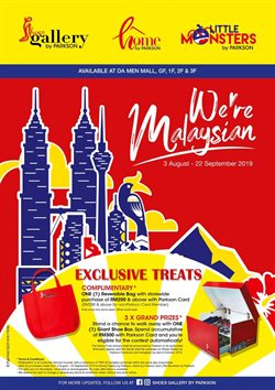 Department Stores offers in the Parkson catalogue in Petaling Jaya