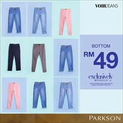 Offers from Parkson in the Johor Bahru leaflet