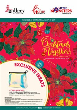 Department Stores offers in the Parkson catalogue in Sunway-Subang Jaya