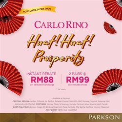 Department Stores offers in the Parkson catalogue in Johor Bahru