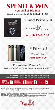 Department Stores offers in the Parkson catalogue in Kajang-Bangi ( 3 days left )