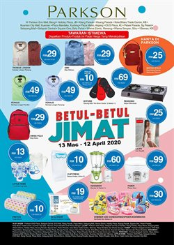 Department Stores offers in the Parkson catalogue in Kuala Lumpur ( 4 days left )