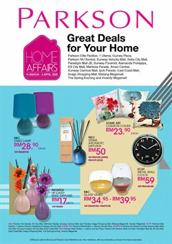 Department Stores offers in the Parkson catalogue in Kota Kinabalu ( Expires tomorrow )