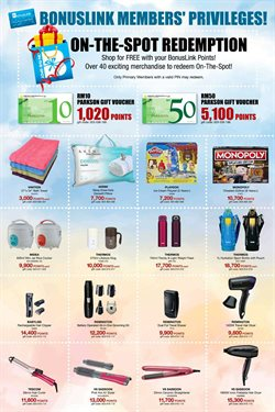 Department Stores offers in the Parkson catalogue in Ipoh ( More than a month )