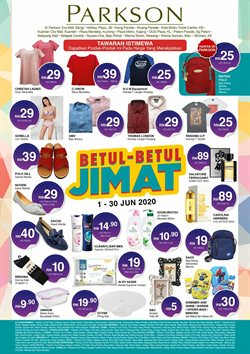 Department Stores offers in the Parkson catalogue in Petaling Jaya ( 24 days left )