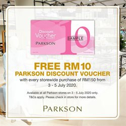 Department Stores offers in the Parkson catalogue ( Expires tomorrow )