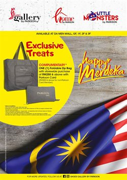 Department Stores offers in the Parkson catalogue in Klang ( More than a month )