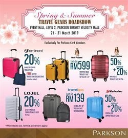 Department Stores offers in the Parkson catalogue in Kuala Lumpur