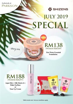 Department Stores offers in the Parkson catalogue in Kajang-Bangi