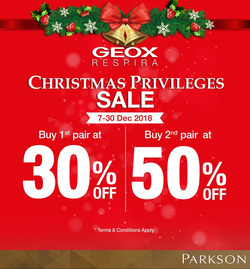 Offers from Parkson in the Kedah leaflet
