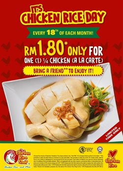 Offers from The Chicken Rice in the Johor Bahru leaflet