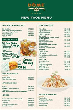 Dome Cafe offers in Dome Cafe catalogue ( More than a month)