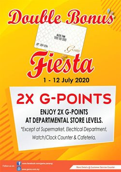 Department Stores offers in the GAMA catalogue in Penang ( 2 days left )