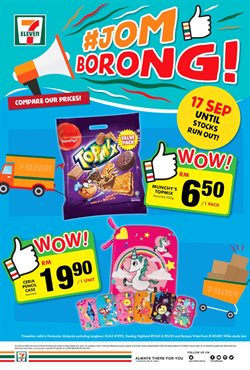 Offers from 7 Eleven in the Kuala Lumpur leaflet