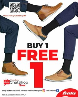 Clothes, shoes & accessories offers in the Bata catalogue in Seremban ( 5 days left )
