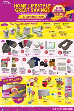 Offers from AEON Shopping Centre in the Johor Bahru leaflet