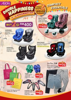 Supermarkets offers in the AEON Shopping Centre catalogue in Johor Bahru