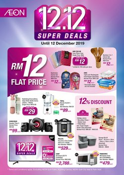 Supermarkets offers in the AEON Shopping Centre catalogue in Klang