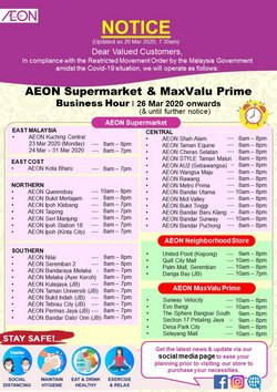 AEON Shopping Centre catalogue ( 3 days ago )