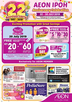 Supermarkets offers in the AEON Shopping Centre catalogue in Shah Alam