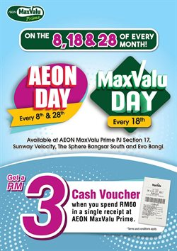 MaxValu catalogue ( More than a month )