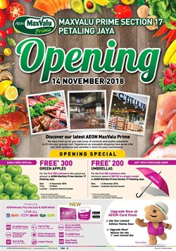 Offers from MaxValu in the Kuala Lumpur leaflet
