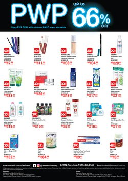 Offers from AEON Wellness in the Melaka leaflet