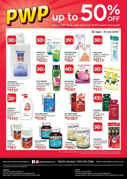 Offers from AEON Wellness in the Johor Bahru leaflet