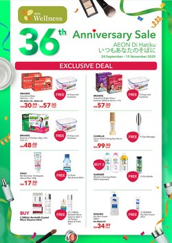 Perfume & Beauty offers in the AEON Wellness catalogue in Shah Alam ( 2 days ago )