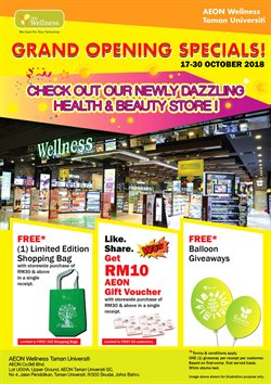 Offers from AEON Wellness in the Kuala Lumpur leaflet