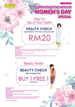 Perfume & Beauty offers in the AEON Wellness catalogue in Kuching