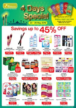 Perfume & Beauty offers in the AEON Wellness catalogue in Kuala Lumpur