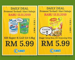 Supermarkets offers in the Cmart catalogue in Kuala Lumpur