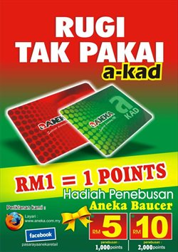 Offers from Pasaraya Aneka in the Kedah leaflet