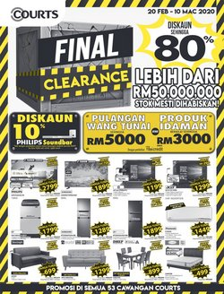 Electronics & Appliances offers in the Courts catalogue in Klang ( 17 days left )