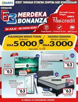 Electronics & Appliances offers in the Courts catalogue in Seremban ( 18 days left )