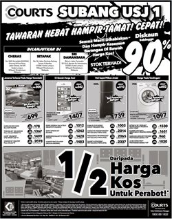 Offers from Courts in the Kuala Lumpur leaflet