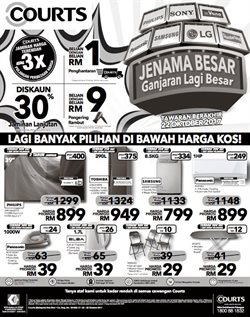 Electronics & Appliances offers in the Courts catalogue in Kuala Lumpur
