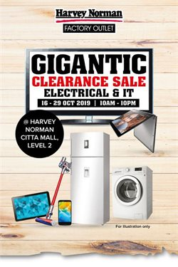 Electronics & Appliances offers in the Harvey Norman catalogue in Sunway-Subang Jaya