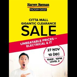 Offers from Harvey Norman in the Kuala Lumpur leaflet