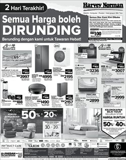 Electronics & Appliances offers in the Harvey Norman catalogue in Kajang-Bangi ( Expires tomorrow )