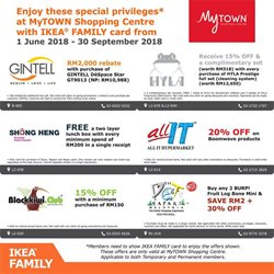 Offers from IKEA in the Kuala Lumpur leaflet