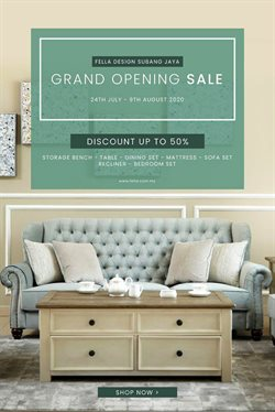 Home & Furniture offers in the Fella Design catalogue in Shah Alam ( Expires today )