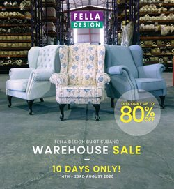 Home & Furniture offers in the Fella Design catalogue in Klang ( 2 days ago )