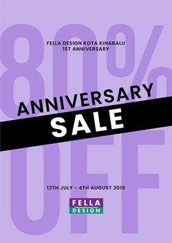Offers from Fella Design in the Kota Kinabalu leaflet