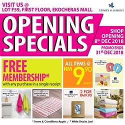 Offers from Home's Harmony in the Shah Alam leaflet
