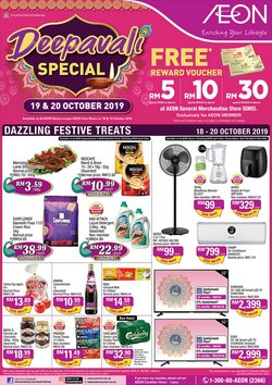 Offers from AEON in the Johor Bahru leaflet