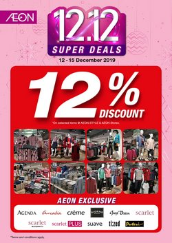 Offers from AEON in the Kuala Lumpur leaflet