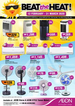 Department Stores offers in the AEON catalogue in Kajang-Bangi ( More than a month )