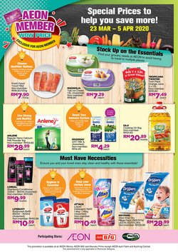 Department Stores offers in the AEON catalogue in Seremban ( Expires tomorrow )